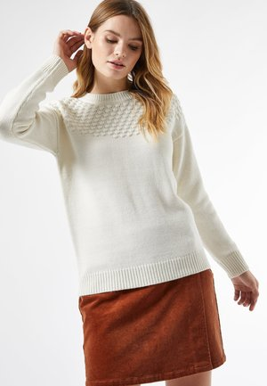 BOBBLE YOKE - Jumper - ivory