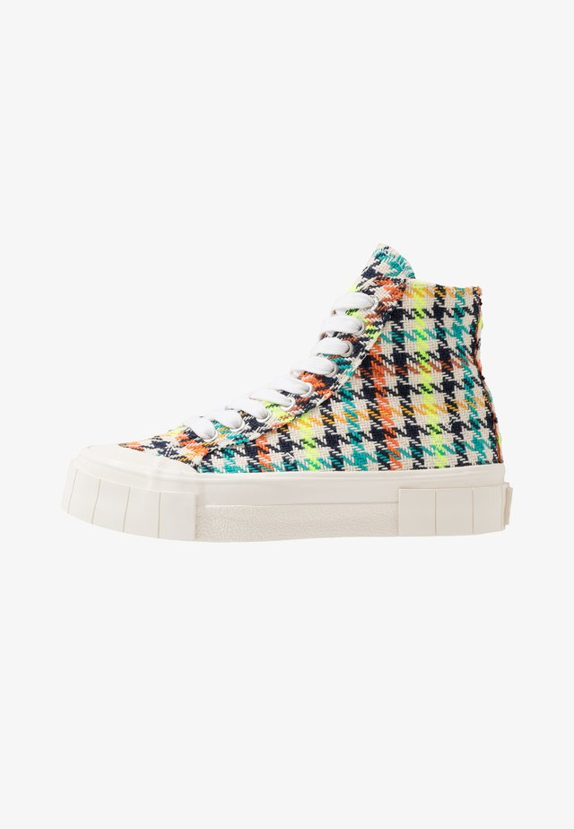 JUICE - High-top trainers - neon check