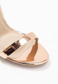 Missguided - BASIC BARELY THERE - Sandály na vysokém podpatku - rose gold metallic - 2