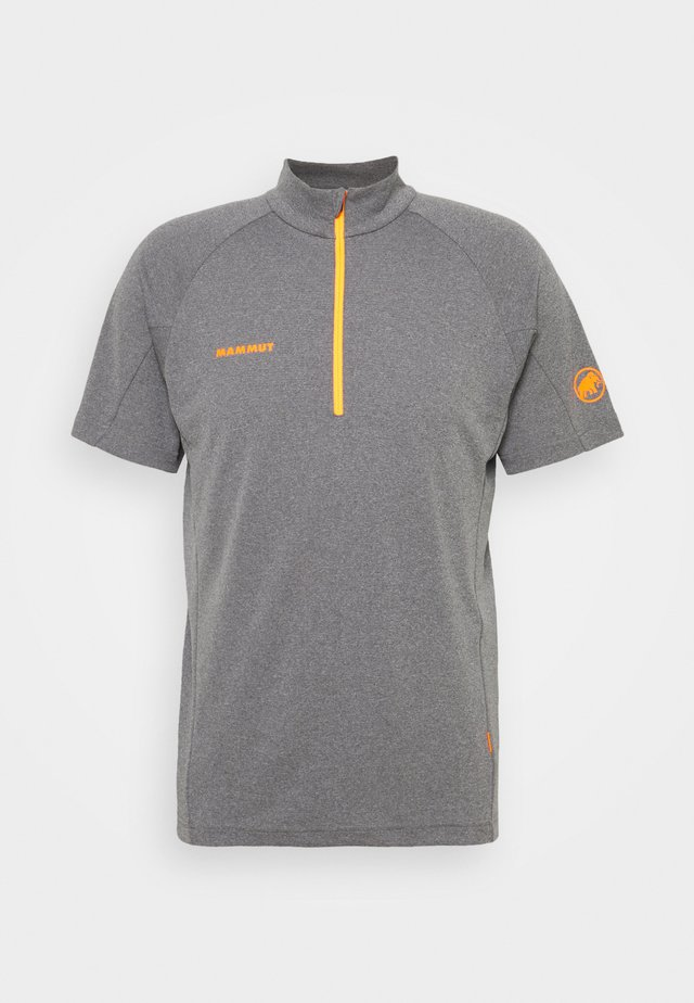 AEGILITY  - T-shirt print - phantom melange/vibrant orange