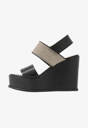CHAIN STREET - Korolliset sandaalit - black