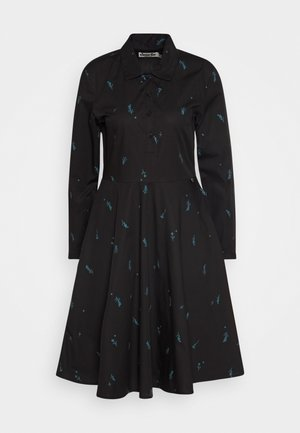 RIBE DRESS - Shirt dress - black/dark duck
