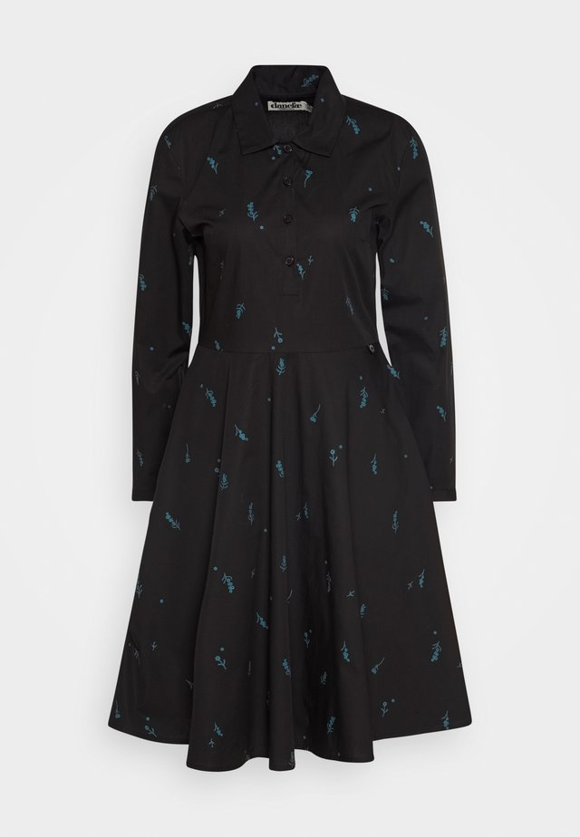 RIBE DRESS - Košilové šaty - black/dark duck