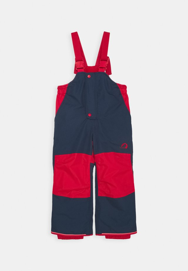 TOOPE UNISEX - Snow pants - navy/red