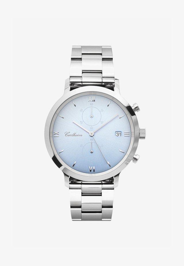 ADLER 42MM - Rannekello ajanottotoiminnolla - silver-blue