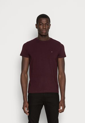 STRETCH SLIM FIT TEE - Basic T-shirt - red