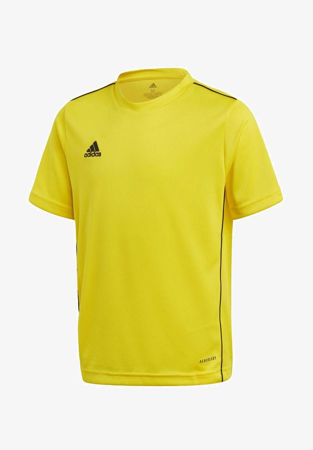 CORE 18 AEROREADY PRIMEGREEN JERSEY - Print T-shirt - yellow