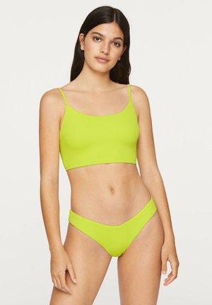 FLUORESCENT BIKINI TOP - Bikini top - neon yellow