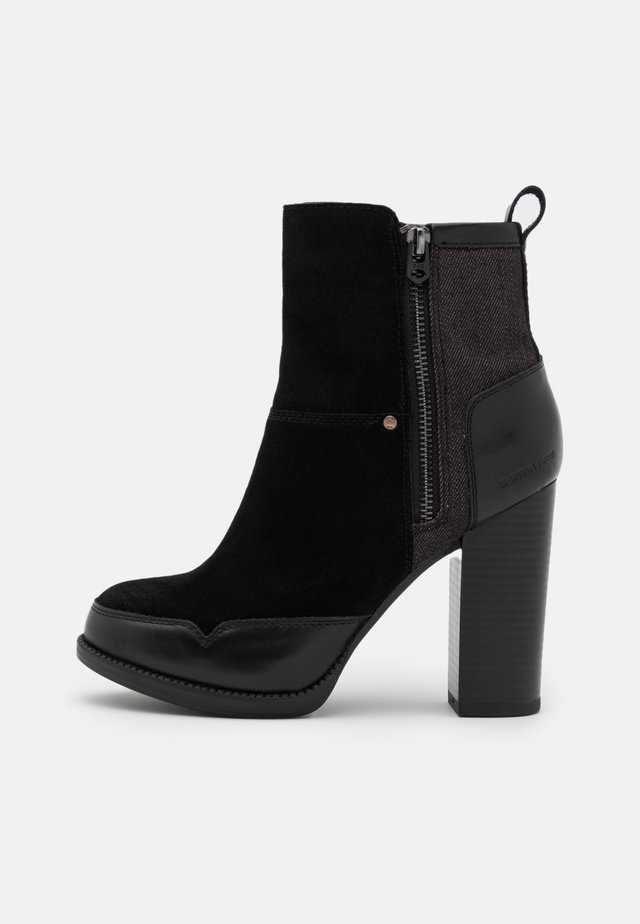 LABOUR ZIP - High heeled ankle boots - black