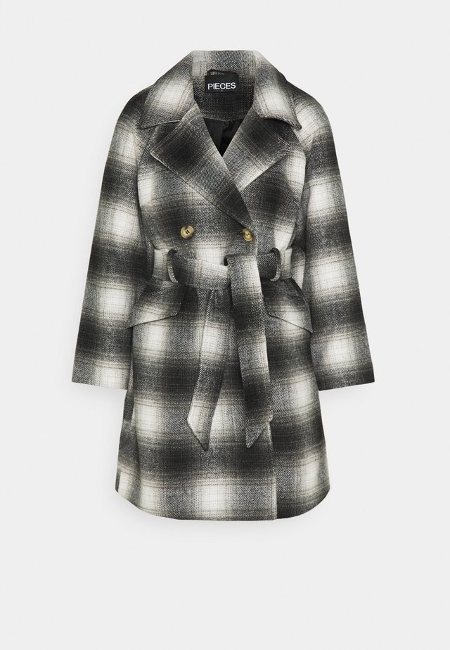 PCSIENA COAT - Mantel - whitecap gray/brown/mole