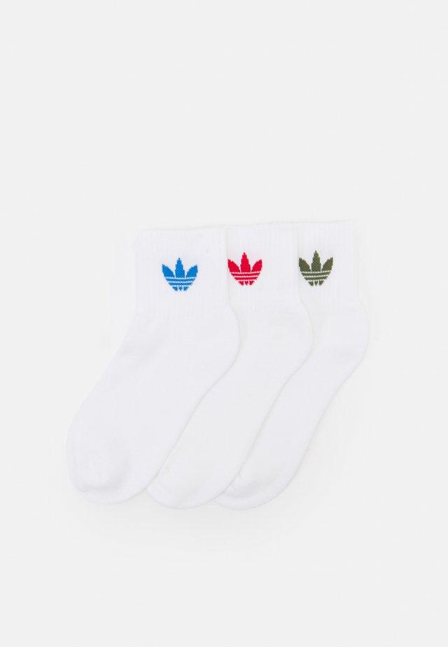 ANKLE UNISEX 3 PACK  - Socks - white/scarlet