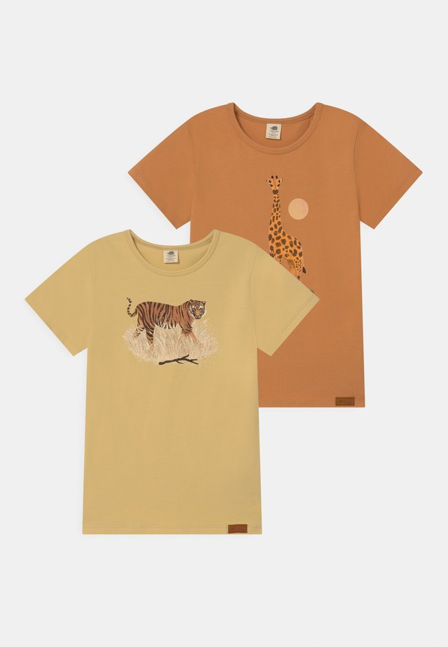 SAFARI ANIMLAS 2 PACK UNISEX - T-shirt con stampa - yellow/orange