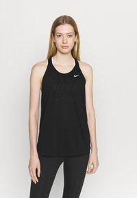 Nike Performance - DRY ELASTIKA TANK - Funktionströja - black/white - 0