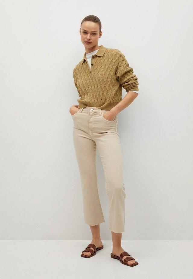 SIENINA - Jeans a zampa - open beige