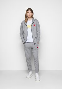 HUGO - DAPLE - Zip-up hoodie - silver - 1