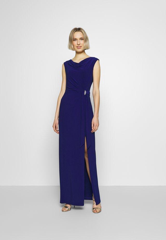 CLASSIC LONG GOWN TRIM - Occasion wear - parisian blue
