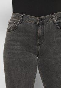 Selected Femme Curve - SLFINA SMOKE  - Jeans Skinny Fit - black denim - 3