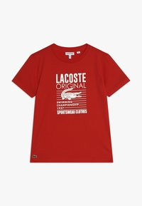 Lacoste - Print T-shirt - red - 0