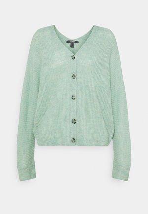 V NECK CARDIGAN - Cardigan - pastel green