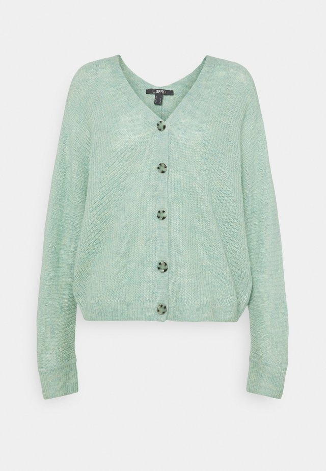 V NECK CARDIGAN - Kofta - pastel green