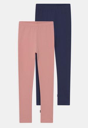 NICA 2 PACK - Leggings - Trousers - peacoat/rose