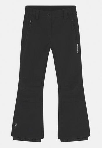 LENEXA JR UNISEX - Snow pants - black