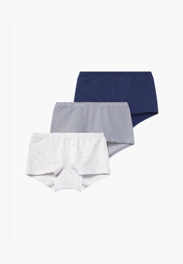 KIDS 3 PACK  - Pants - dark blue/white