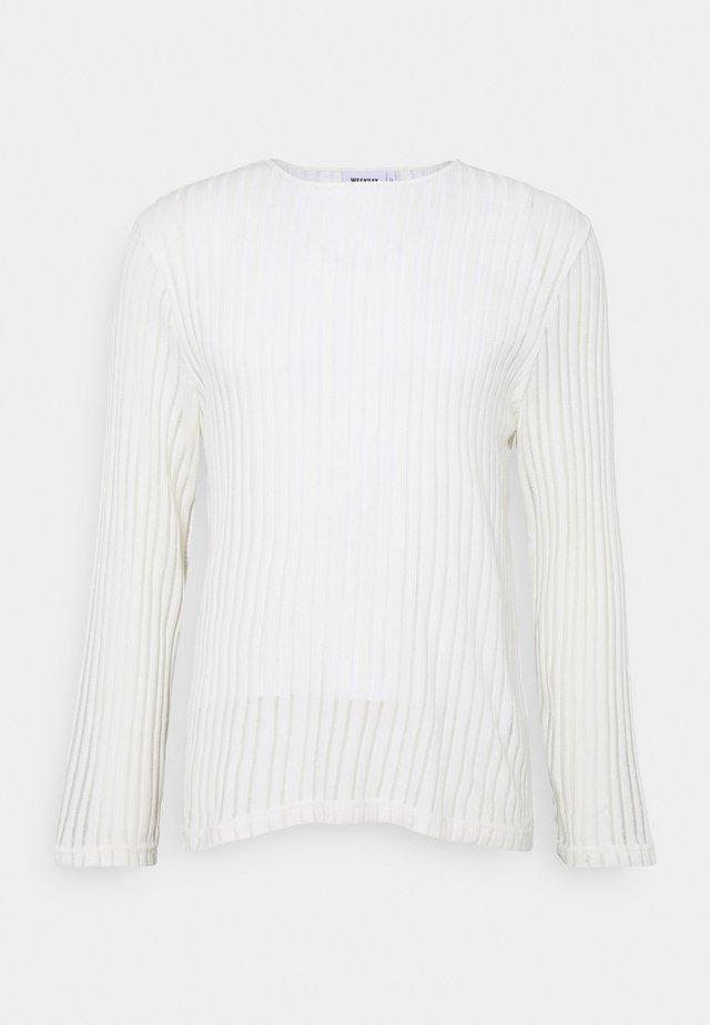 SVANTE STRUCTURE LONGSLEEVE - Jumper - white