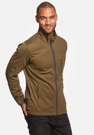 JESPER - Soft shell jacket - dark olive
