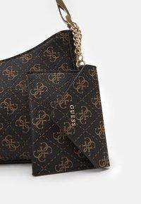 Guess - LAYLA TOP ZIP SHOULDER SET - Handbag - brown - 3