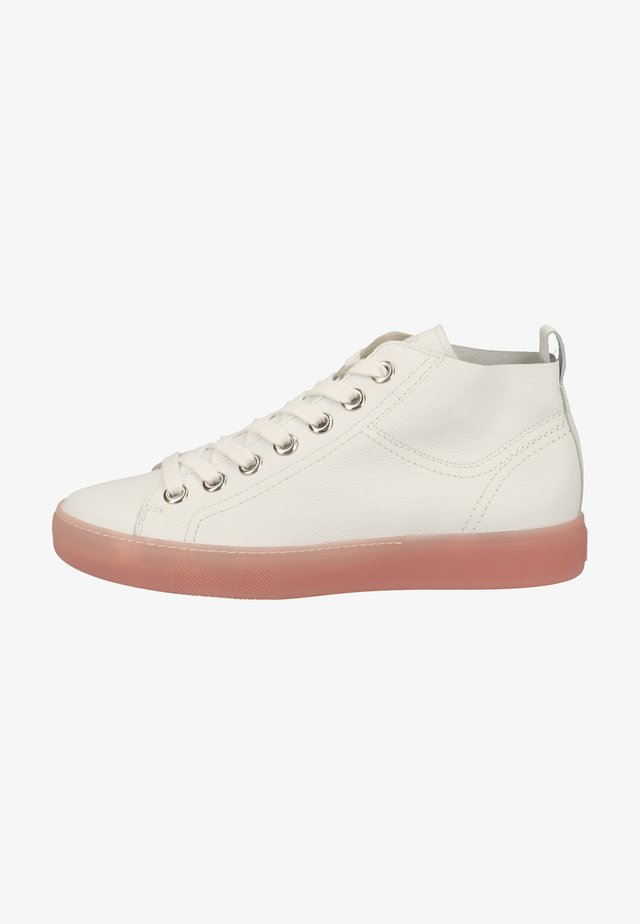 Sneakersy wysokie - weiß/coralle