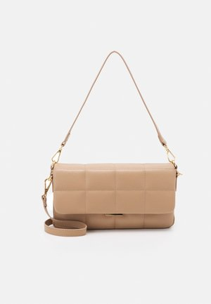 NICOLA PADDED CROSSBODY BAG - Bolso de mano - tan