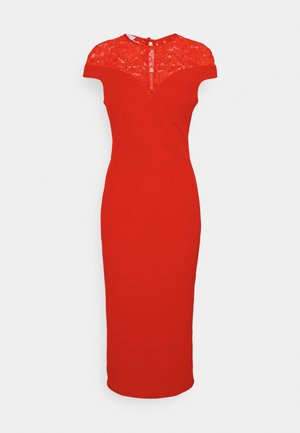 MADELINE MIDI DRESS - Pouzdrové šaty - red