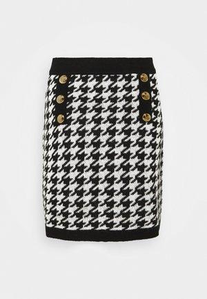 GONNA MAGLIA  - Pencil skirt - nero/bianco