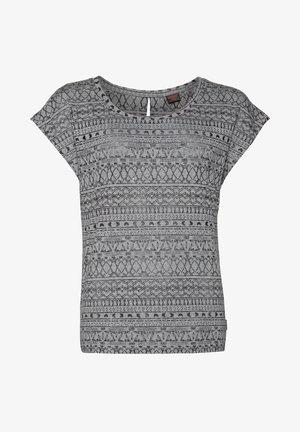 HELSTA  - Print T-shirt - true black