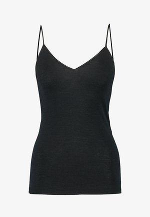 WOOLEN-SILK MIX - Undershirt - black