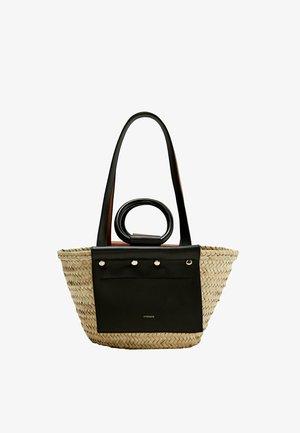 MIT SEITENTASCHEN AUS LEDER - Handbag - black