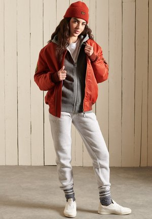 VINTAGE LOGO EMBROIDERED  - Zip-up sweatshirt - rich charcoal marl