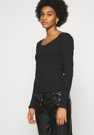 VMNEWAVA DETAIL - Langærmede T-shirts - black