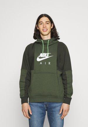 AIR HOODIE - Hoodie - carbon green/sequoia/white
