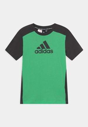 UNISEX - Print T-shirt - semi screaming green/carbon