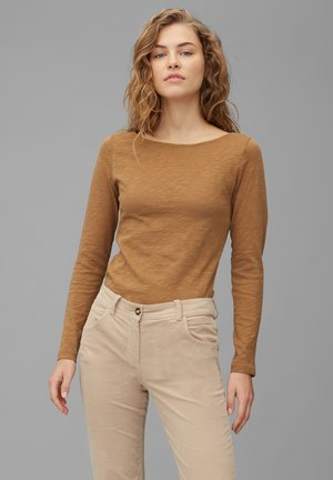 LONG SLEEVE - Long sleeved top - faded tobacco