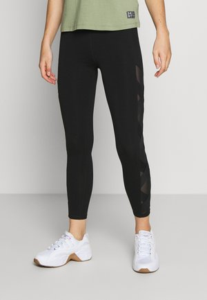 HIGH WAIST LEGGING CRISSCROSS SIDE BANDS - Medias - black