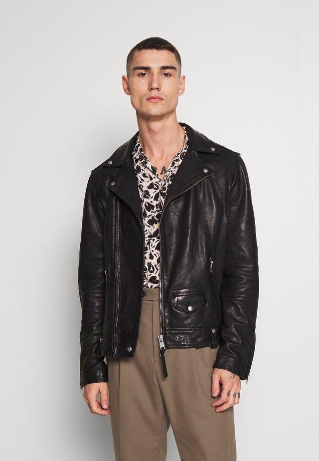 HEDWORTH BIKER - Leather jacket - black