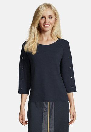 MIT KNOPFLEISTE - Sweatshirt - dunkelblau