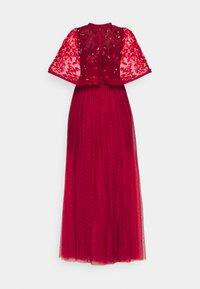 Needle & Thread - SEQUIN RIBBON BODICE MAXI DRESS - Společenské šaty - deep red - 6