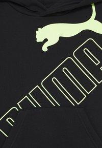 Puma - BIG LOGO HOODIE - Sweat à capuche - black/sharp green - 2
