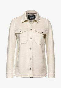 Cecil - OVERSHIRT IN VELOURS-OPTIK - Summer jacket - beige - 3