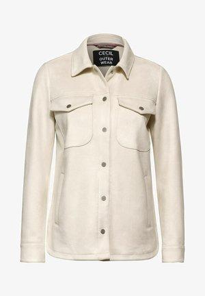 OVERSHIRT IN VELOURS-OPTIK - Summer jacket - beige