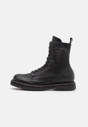 REPUNK - Šněrovací kotníkové boty - nero